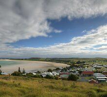 View overlooking Stanley, Tasmania, Australia. by Roger Neal