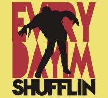 Zombie Shuffle (blk) Kids Tee