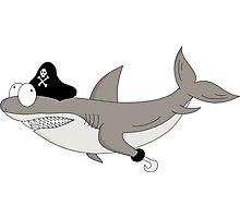 Cartoon shark PIRATE Photographic Print
