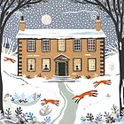 Winter foxes, Haworth Parsonage by Amanda White