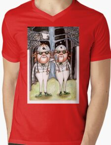 The Tweedles collaboration Mens V-Neck T-Shirt
