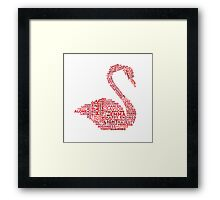 Emma Swan Typography Once Upon A Time Framed Print