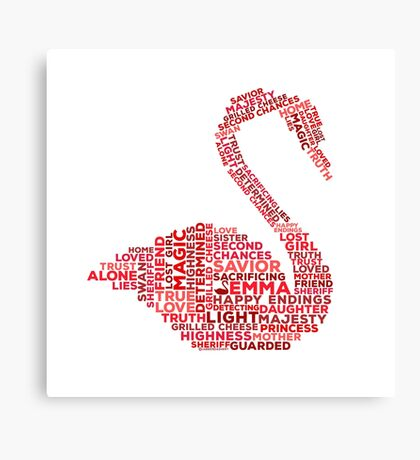 Emma Swan Typography Once Upon A Time Canvas Print