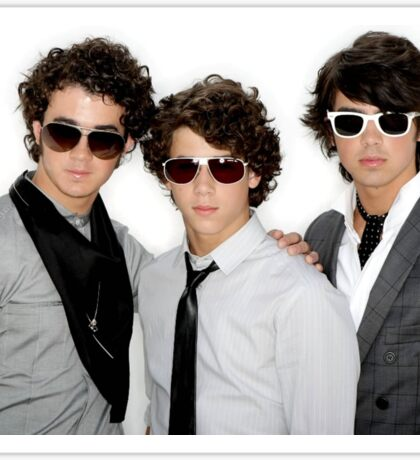 the jonas brothers with sunglasses on Sticker