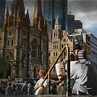 Walk on By, Flinders Street, 2010 by Liza Clements