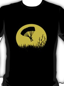 Parachuting down to earth.. T-Shirt