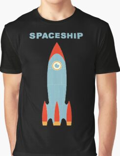 Retro Rocket Graphic T-Shirt
