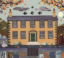 Haworth Parsonage, Autumn Evening (with geese) by Amanda White