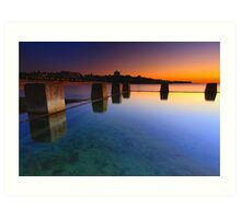 Coogee Pool Sunrise Art Print
