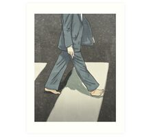 The Beatles Paul McCartney Illustration Abbey Road Zebra Crossing Art Print