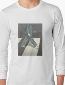 The Beatles Paul McCartney Illustration Abbey Road Zebra Crossing Long Sleeve T-Shirt