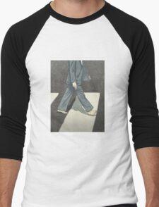 The Beatles Paul McCartney Illustration Abbey Road Zebra Crossing Men's Baseball ¾ T-Shirt