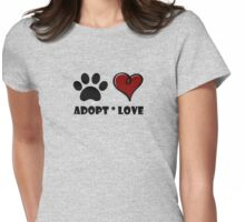 Adopt * Love Womens Fitted T-Shirt