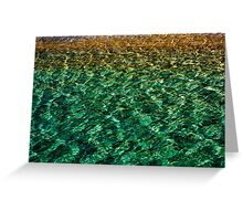 Glass Water Greeting Card