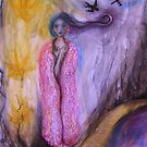 Rose Petal Cloak (study) by Thea T