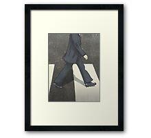 The Beatles Ringo Starr Illustration Abbey Road Zebra Crossing Framed Print