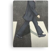 The Beatles Ringo Starr Illustration Abbey Road Zebra Crossing Canvas Print