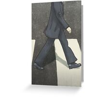 The Beatles Ringo Starr Illustration Abbey Road Zebra Crossing Greeting Card