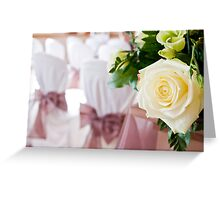 Wedding Rose and Chair Covers Greeting Card
