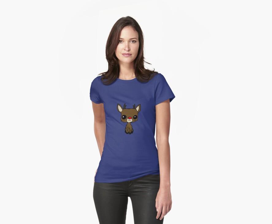 cute rudolph t-shirt by Zozzy-zebra