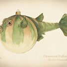 Ornament Pufferfish Christmas Fish by Ashly Bohinc by SharksEatMeat