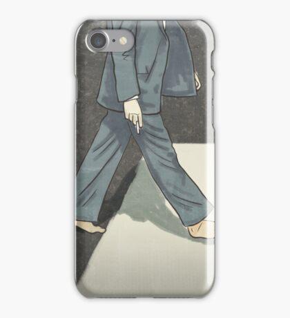 The Beatles Paul McCartney Illustration Abbey Road Zebra Crossing iPhone Case/Skin