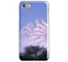 Fireworks over lake iPhone Case/Skin