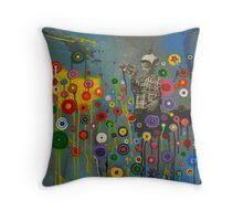 Spaceboy Throw Pillow