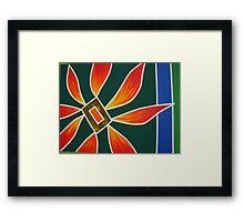 Flower & Fire Framed Print