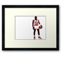 Micheal  Jordan Framed Print