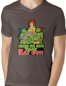Chicks Dig Guys That Eat Out Mens V-Neck T-Shirt