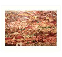 Turkey Twisters Art Print