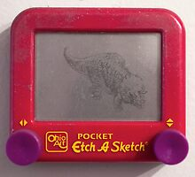 Triceratops Etch-a-sketch by SharksEatMeat
