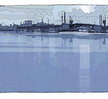 Port Adelaide Bridge by David  Kennett