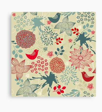 Cute Doodle Pattern Canvas Print