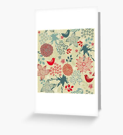 Cute Doodle Pattern Greeting Card