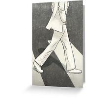 The Beatles John Lennon Illustration Abbey Road Zebra Crossing Greeting Card