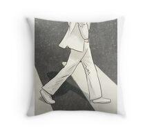 The Beatles John Lennon Illustration Abbey Road Zebra Crossing Throw Pillow