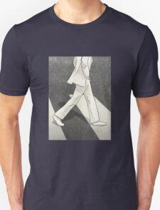 The Beatles John Lennon Illustration Abbey Road Zebra Crossing Unisex T-Shirt