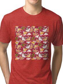"""Oro?"" Christmas Wine Red Tri-blend T-Shirt"