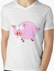 Cartoon pig  Mens V-Neck T-Shirt