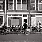 Bicycling in the fast lane, Utrecht, The Netherlands by Norman Repacholi