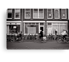 Bicycling in the fast lane, Utrecht, The Netherlands Canvas Print