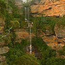 Katoomba Falls .. & lots of it. by Michael Matthews