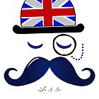 Like A Sir - Moustache Design (IPHONE CASE) by xFreshGFX