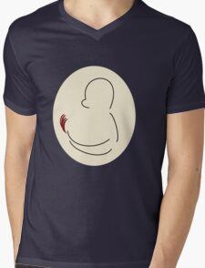 Charmander Silhouette Sticker Light Mens V-Neck T-Shirt