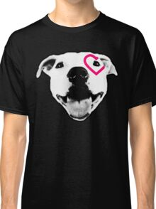 Heart over eye Pittie Classic T-Shirt