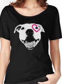 Heart over eye Pittie Women's Relaxed Fit T-Shirt