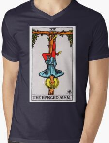 Tarot Card - The Hanged Man Mens V-Neck T-Shirt