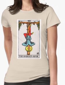 Tarot Card - The Hanged Man Womens Fitted T-Shirt